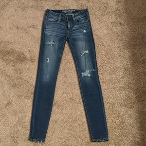 AE 4 Long Ripped Jeggings